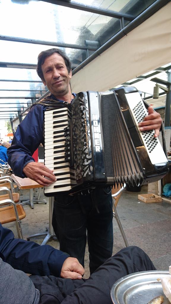Being serenaded in Vigo