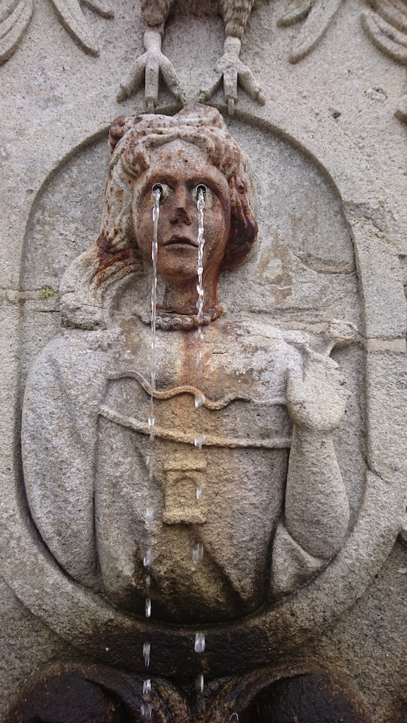 One of the fountains at Bom Jesus near Braga - the resemblance was uncanny