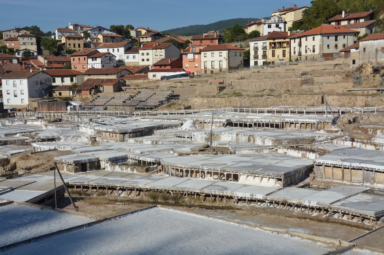 The salt farms at the Salinas de Anana
