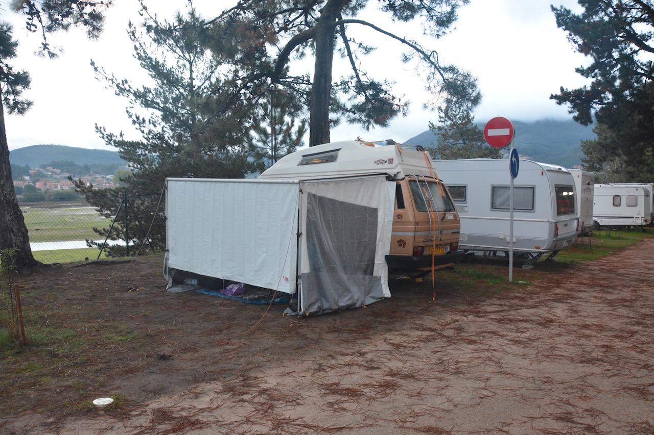 Our Fiamma awning in action